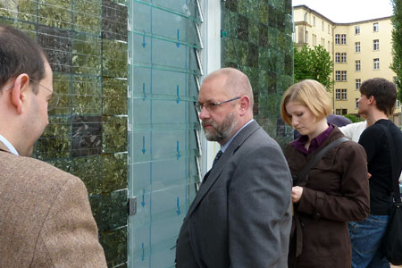 Major of City Construction from Schorndorf visiting the building site